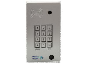 Intercomunicador IP PoE de superficie con teclado, cámara y lector RFID