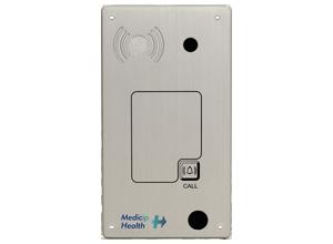 Intercomunicador IP PoE de empotrar con lector RFID y cámara a color