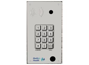 Intercomunicador IP PoE de empotrar con teclado, cámara y lector RFID